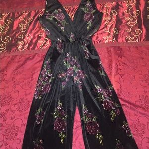 Women's Velvet Jumpsuit - Xhilaration
